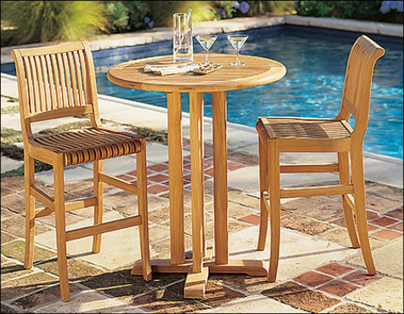 Bar Height Teak Outdoor Furniture Outdoor Bar Chairs And