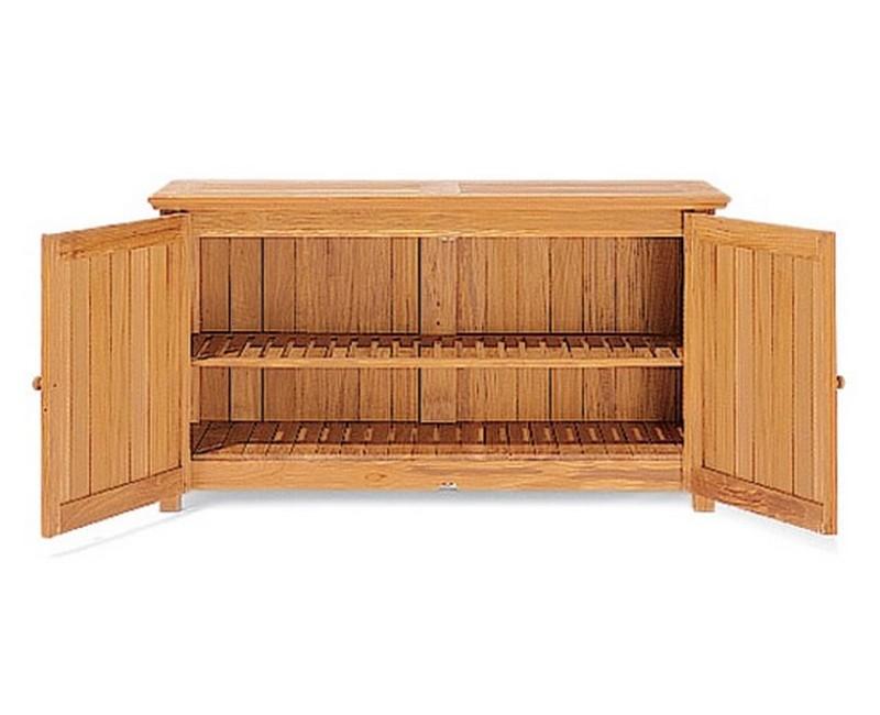 Teak Chest Storage Cabinet