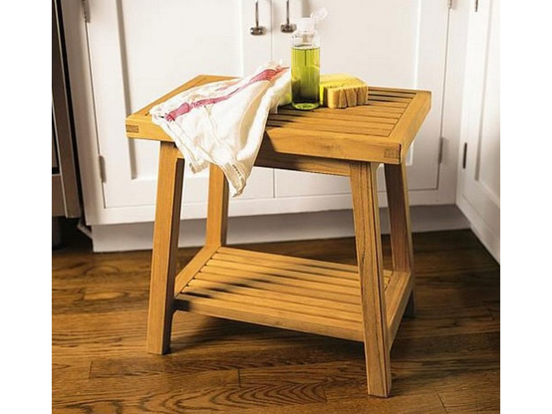 bath stool or side table or shower bench