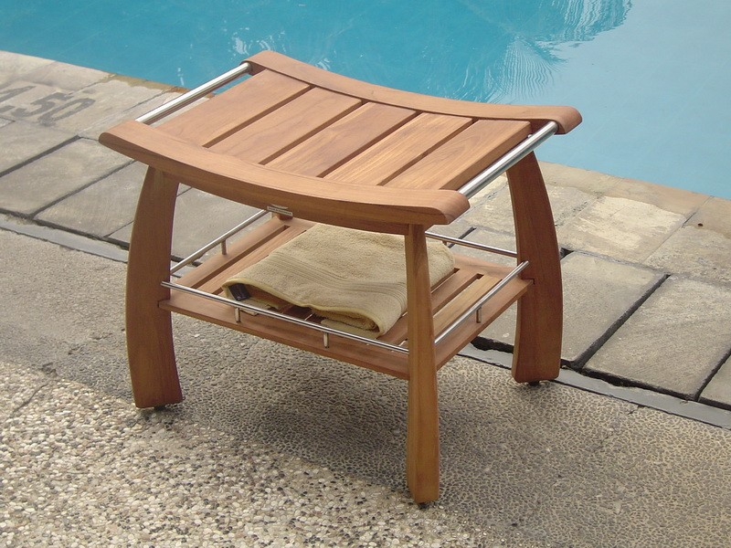 Teak Bathroom Shower Bench | Home design ideas